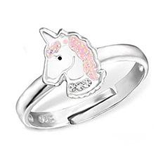 anillo con imagen de unicornio