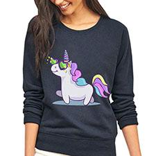 blusa sueter con imagen de unicornio
