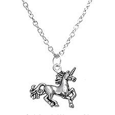 colgante con imagen de unicornio