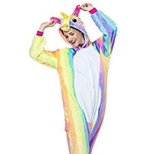 disfraz colorido con forma de unicornio