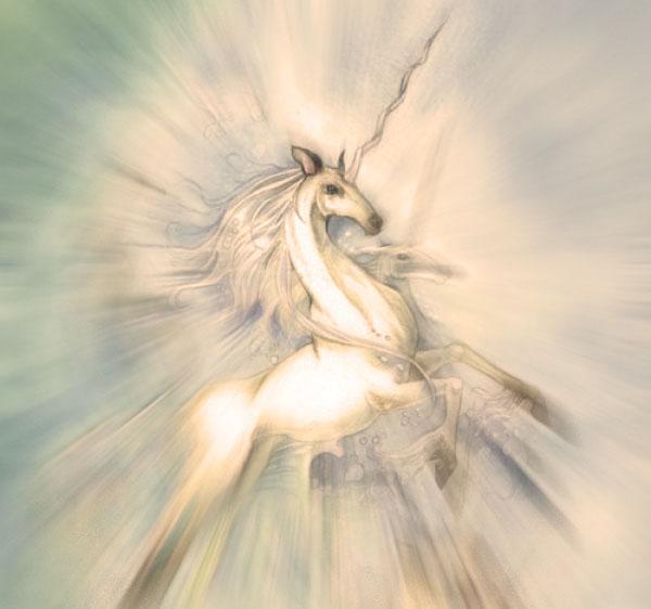 unicornio con su cuerno magico