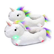 pantuflas de unicornio con luz