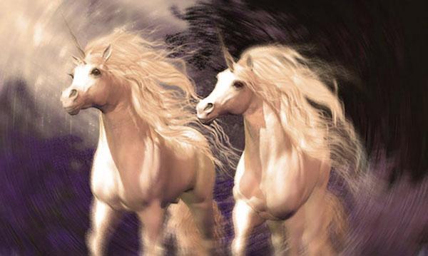 unicornios caminando juntos