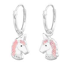 pendientes con imagen de unicornios