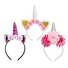 diademas de unicornios con flores