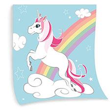 manta de unicornio con arcoiris