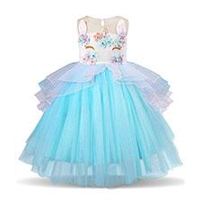 vestido de unicornio tutu para niñas