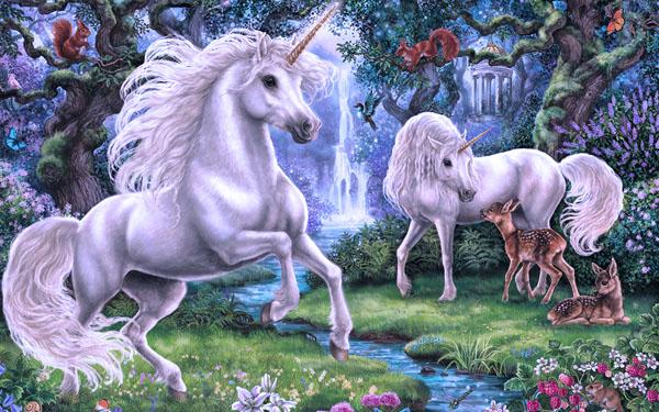 unicornio azul