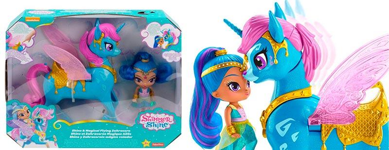 muñeca shimmer y shine unicornio
