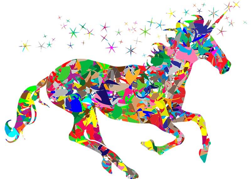 leyenda del arcoiris y el unicornio