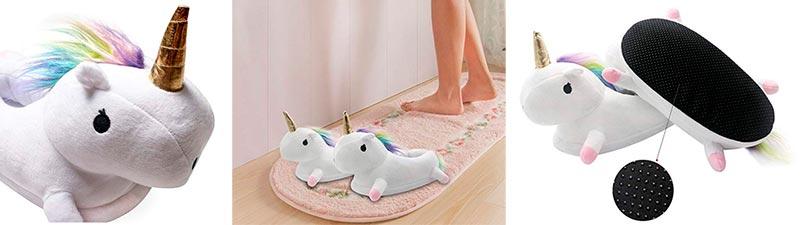pantuflas para niñas de unicornio