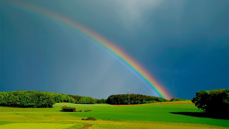 arcoiris en el cielo