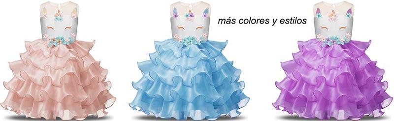 vestidos de unicornio para cumpleaños