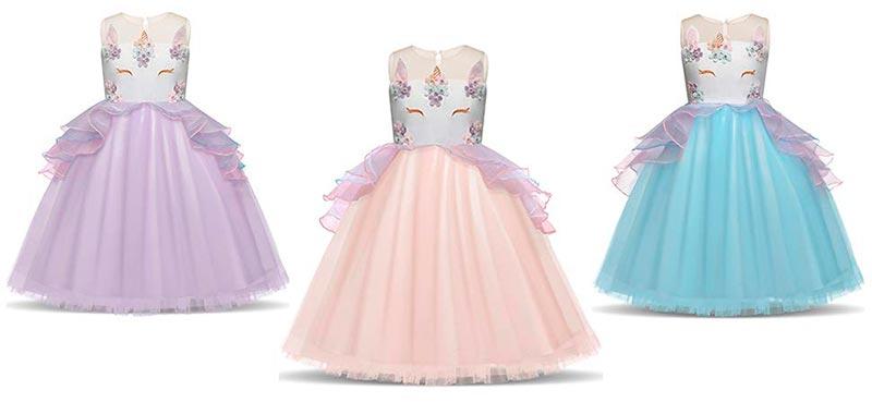 vestidos para fiestas de unicornio