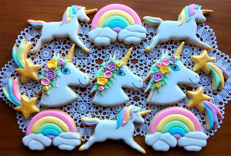 molde de galletas de unicornio