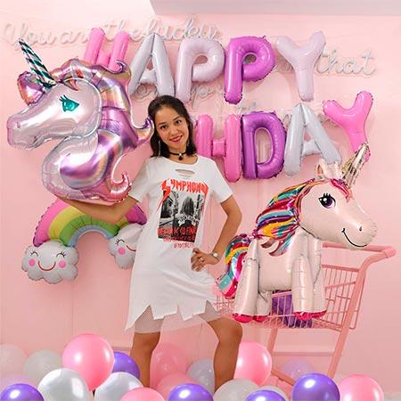 globos de unicornio para fiestas