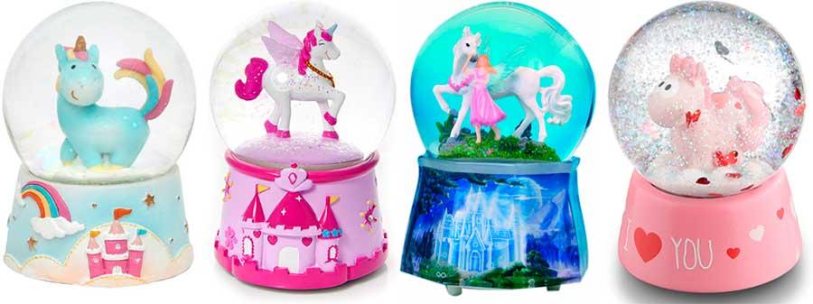 bola de nieve con unicornios