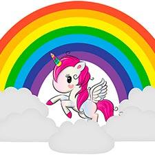unicornio arcoiris magico