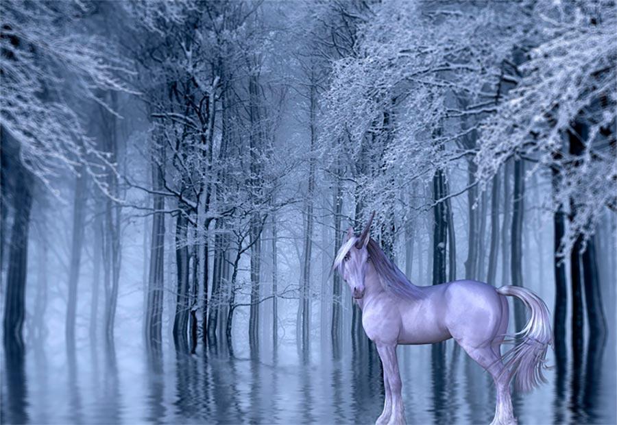 Símbolo místico del unicornio