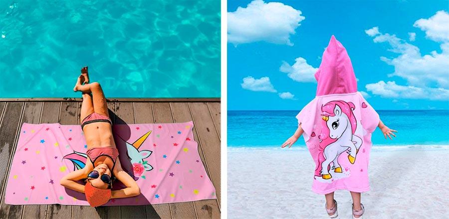 toallas de unicornio para niñas
